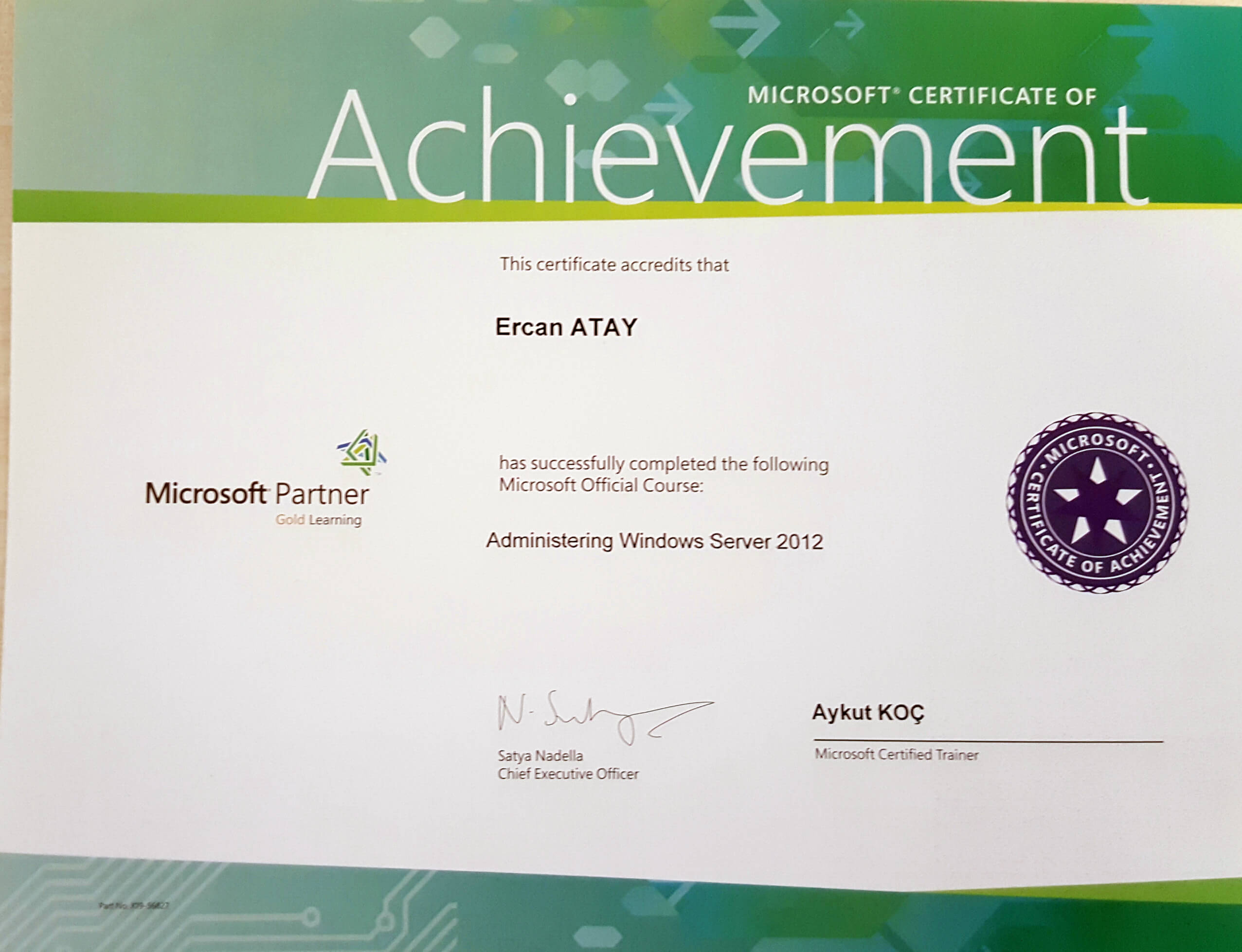 Microsoft Certified Solutions Expert (MCSE) Administering Windows Server 2012