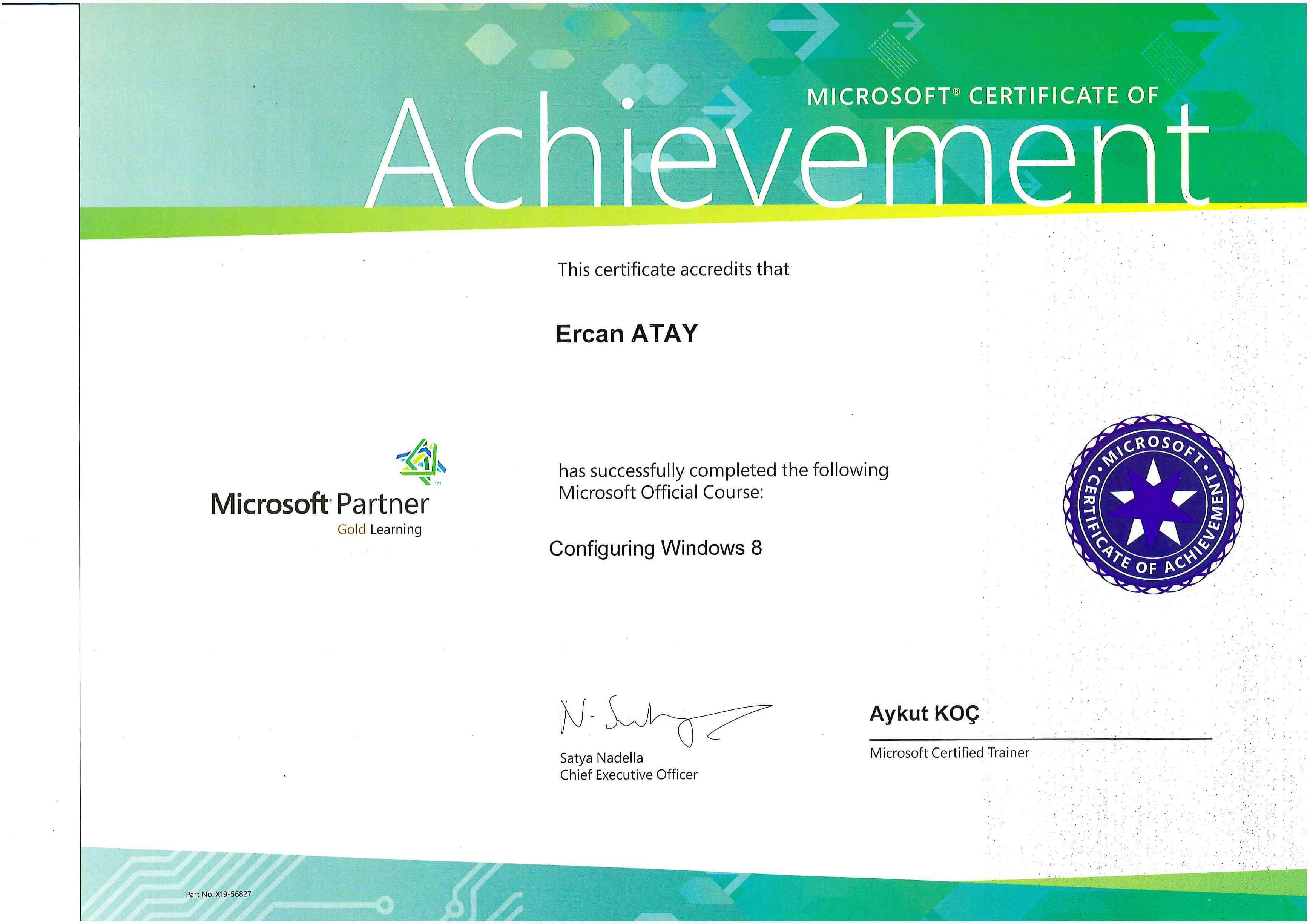 Microsoft Certified Solutions Expert (MCSE) Windows 8 Installing & Configuration