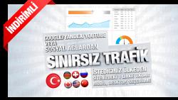 Uygun Trafik Paketleri | Ülke/Bölge & Sosyal Ağ/Arama Motoru Seçebilme | Trafiği Bölebilme | Kelime Hedefli | 5 Dk. Kadar Sayfada Kalma