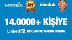 Ben, 14.000+ kişilik linkedin hesabımda reklam & tanıtım yaparım.